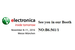 Changzhou Cre-sound Electronics will attend Munich Electronica 2016 from Nov. 8 to Nov. 11.
